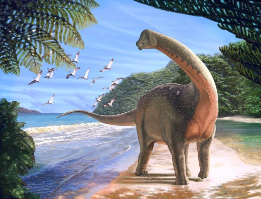 Mansourasaurus as depicted by Andrew McAfee.