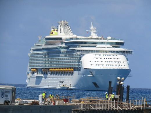 Anchored off of Coco Cay, Bahamas