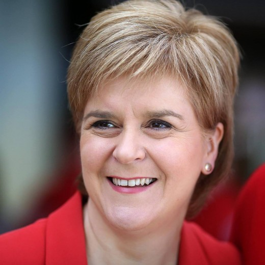 SNP Leader and First Minister of Scotland:  Nicola Sturgeon.