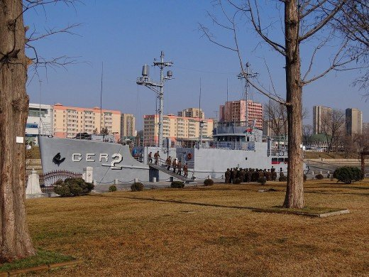 The USS Pueblo at the Victorious Fatherland Liberation War Museum, Pyongyang, North Korea,