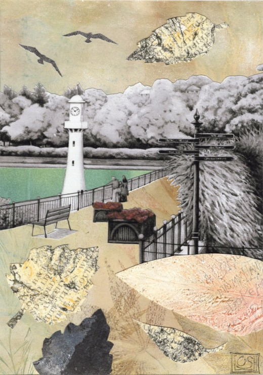 Monoprint collage by Helen Lush