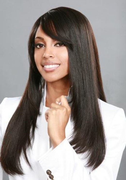 Long hairstyles with weave for black women