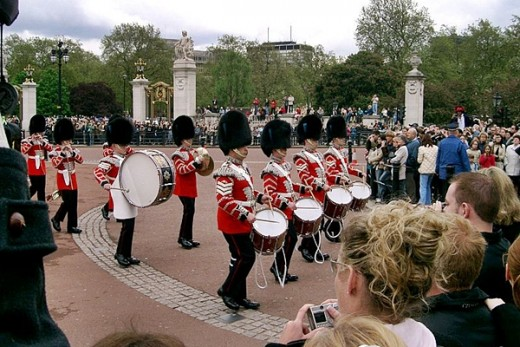 Military band at Changing the Guards