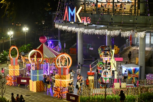 A mini carnival for kids at AMK Hub, a residential shopping mall.