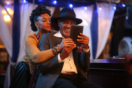 'Paris Blues In Harlem' central characters are the film's writer & director, Nadhege Ptah, and veteran actor, Charles Weldon as grandfather & grand-daughter in a memorable performance.