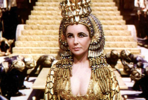 Elizabet Tailor in the role of Cleopatra was not really acting, because Cleopatra was very much like her, she slept with many men, E T married 8 times plus what we don't know.