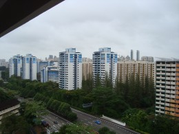 View from my flat in Singapore