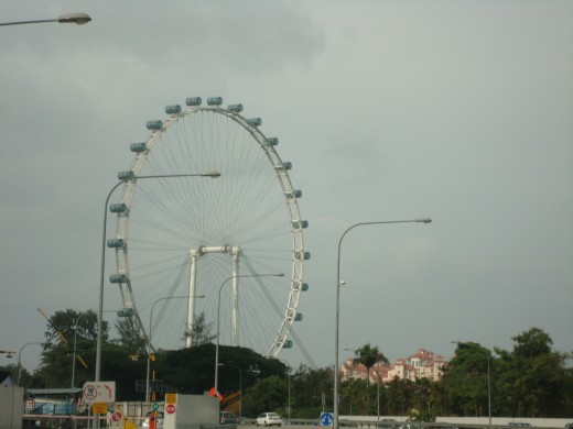 Singapore Flyer in the distance