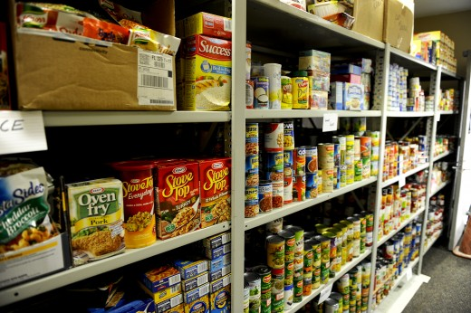 Even military bases like this one at Hurlburt Field in Florida opened food pantries to their families by 2013.