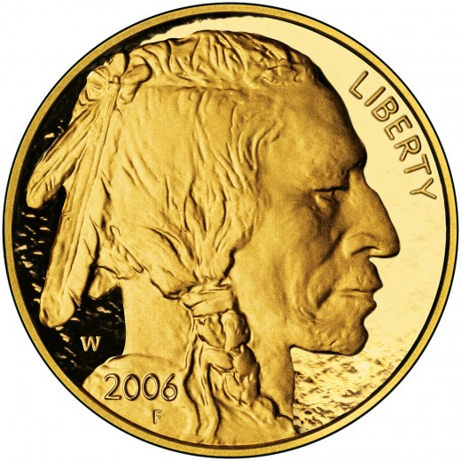 2006 gold 24karat Indian head Liberty coin minted of .9999 gold. The proof sold for $800 in 2006. In 2011 it was valued at $2,010.
