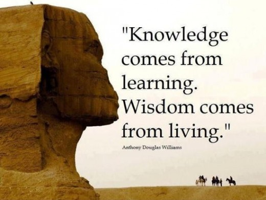 Those to whom knowledge is their god, wisdom is an unwelcome guest.