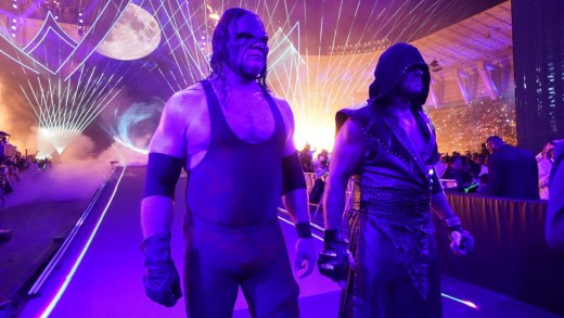 """The Brothers of Destruction"". KANE (Left) and The Undertaker (Right)."