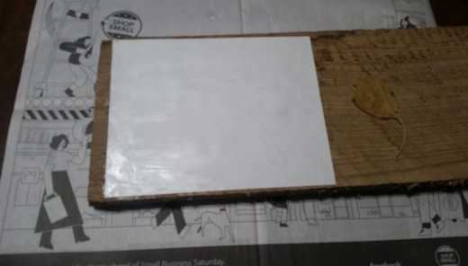 First I tried gelling my photo to the board face down. The photo quality was too good to disintegrate.