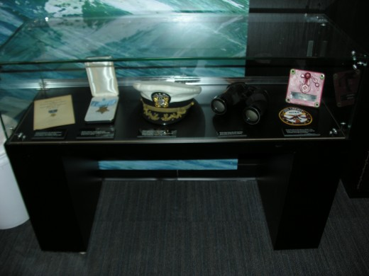 Items of the USS Liberty's captain, Commander William McGonagle, including his Medal of Honor and citation.