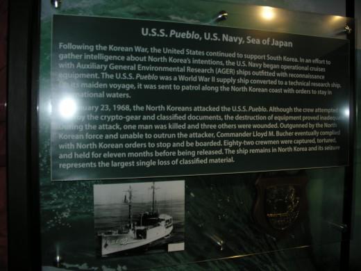 The USS Pueblo exhibit.