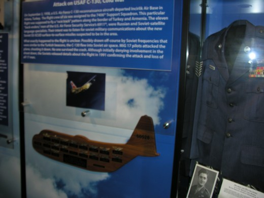 Exhibit about the shootdown of the C-130, tail number 60528.