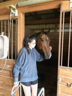 This is the first time I was back in the barn, a couple months after the accident. It was just for a few minutes, a quick visit.