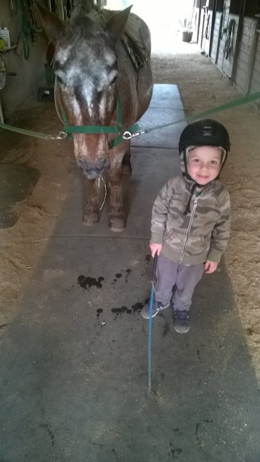 For those of us who have been raised around horses, riding usually comes naturally to us (like it  does to my little nephew Oliver). It doesn't come easily to everyone though.Some have to work a lot harder for it.