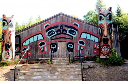 The Totem Heritage Center.  It is one of the world's largest collection of unrestored 19th century totem poles.