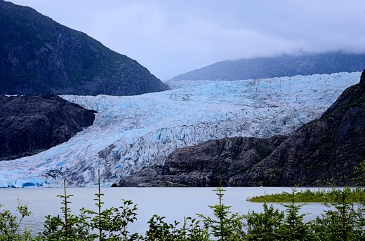 Up close and personal at Mendenhall Glacier, Juneau.