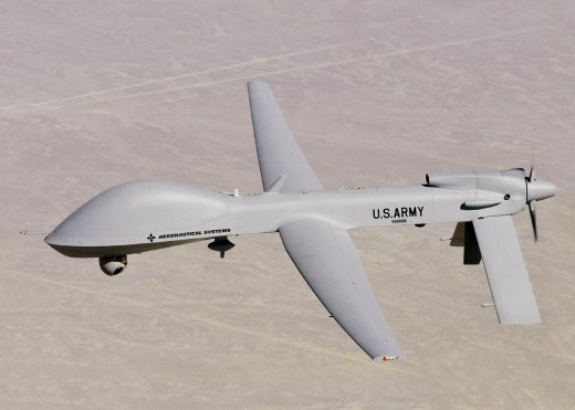 "U.S. Army UAV. As I said, ""much more impressive weapons than our publicly available firearms."""