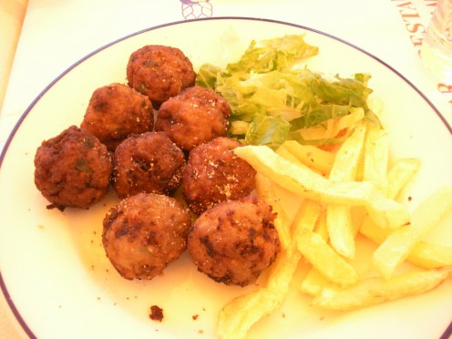 Even the fries were good, but this was a type of meatball if I am recalling correctly. If you know the official names of some of these foods, please let me know! Thanks so much.