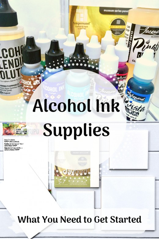 Alcohol Ink Supplies: A list of what you'll need to get started.