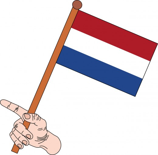 The Dutch flag was the first three-colored flag in the world.