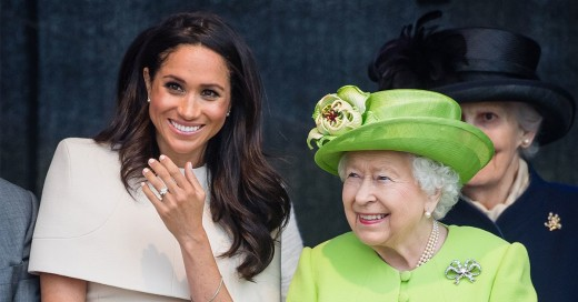 The Duchess of Sussex is wearing white nail polish even though it doesn't look like it in the photo.
