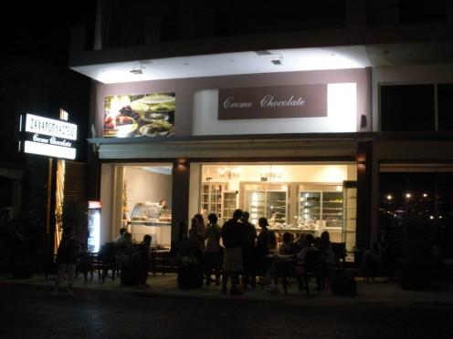 The fun chocolates and dessert store where we had dessert one night