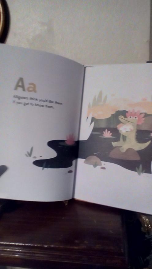 A for Alligator starts the alphabet