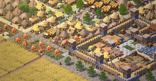 An example of a developed city.