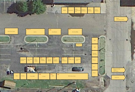 Detail of Vendor Spaces in Google Earth Pro