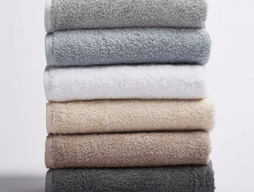 Organic cotton towels are soft, absorbent and fluffy.