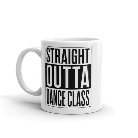 """Straight Out of Dance Class"" coffee mug from Salsa Vida."