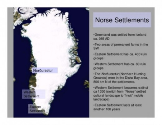 Overall Norse settlement on Greenland, abandoned altogether by a weakened populace around AD 1540. The return of the Inuit tribes at the onset of the Little Ice Age brought conflict, as the Norsemen had settled the old burial grounds