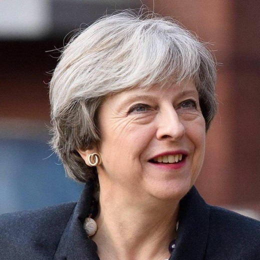 Conservative leader and Prime Minister:  Theresa May.