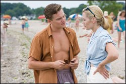 The characters Frank and April Wheeler at the beach in a scene from Revolutionary Road the movie.