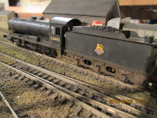 One of my two Hornby Class Q6 locomotive models, this being 63343 of Haverton Hill Shed (Billingham, Teesside)