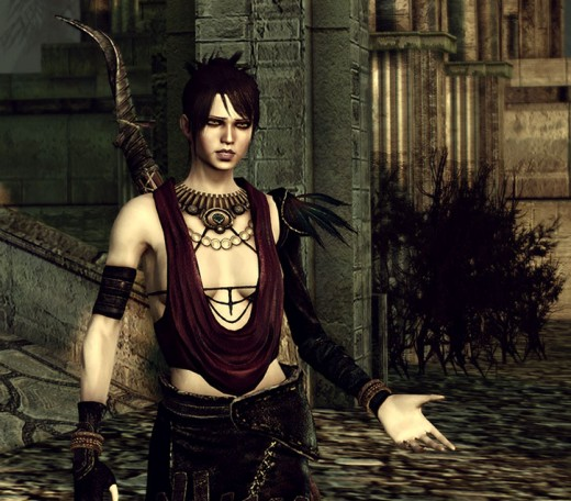 """Morrigan is one of the potential mates in """"Dragon Age."""""""