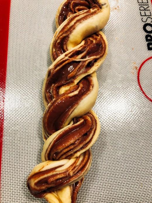 Twist to form spirals.