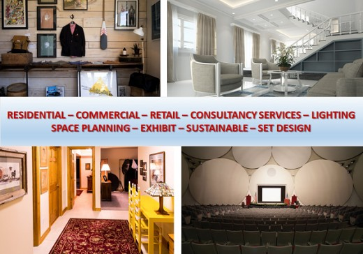 Specialized fields in the interior design industry.