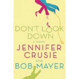 This is Don't Look Down by Jennifer Crusie and Bob Mayer.  If you get the hard copy of this, there usually is another cover below this, it is a camouflage version.