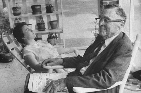 Amasa Coleman Lee with Harper Lee enjoying an afternoon