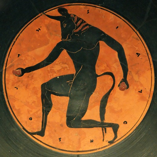 Painting of the Minotaur (circa 515 BC)