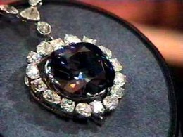 Hope Diamond.  Largest dark-blue in the world.  Photo Credit Dane Penland, Smithsonian.