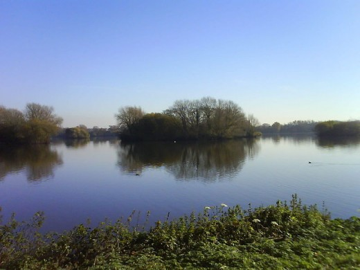 A`photograph of one of the many water bodies at Kingsbury Water Park.