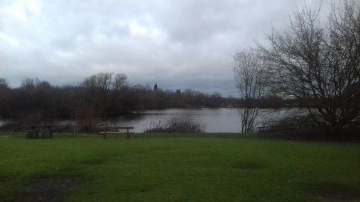 A photograph of Broomey Croft Pool in a much quieter and pleasant part of Kingsbury Water Park.