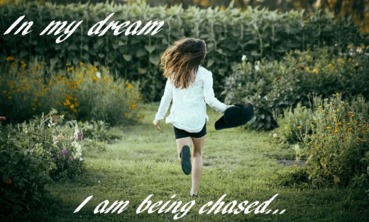 Girl running or being chased in dream