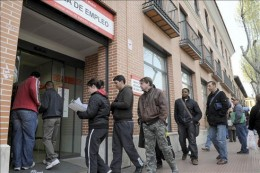 Long queues have become more common at job centres
